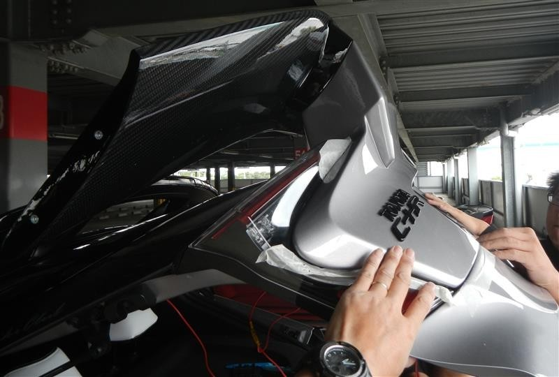 KABO1 SPORTS DUAL WING TYPE2 JAPAN 取り付け