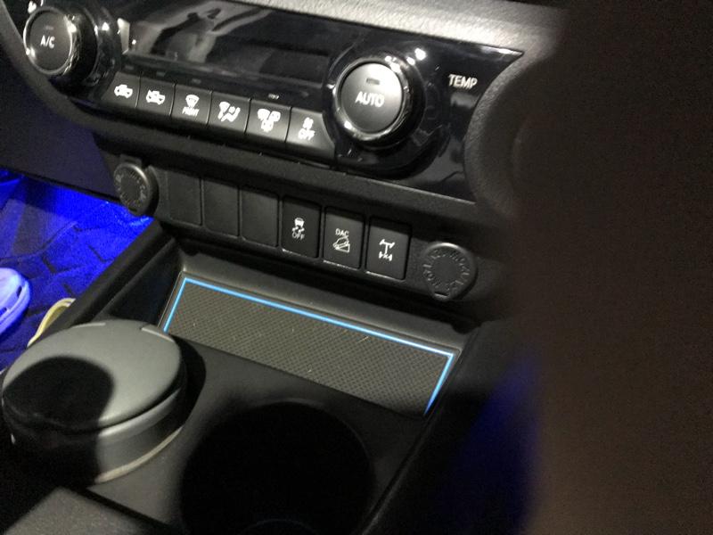 エアコン操作パネル下の照明