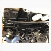ハイゼットトラックs200p後期 フロント フレーム補強バー?自作の画像