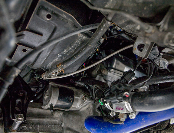 RSマッハ B15 ステンレスメッシュクラッチホース Honda Beat ホンダ ビート