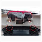 コムテック ドライブレコーダー ZDR-015 前後2カメラ 取付の画像