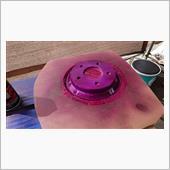 ブレーキローター耐熱塗装の画像