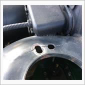 フロントアッパーマウントクラック修理の画像
