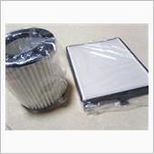 エアクリーナー、エアコンフィルター交換の画像