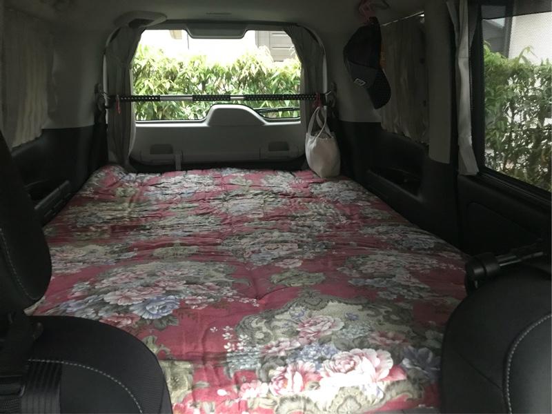 車中泊ベッド完成