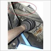 フロントドラシャブーツ(インナー)破れ確認の画像
