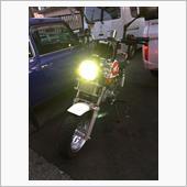 モン吉 ヘッドライトLED化の画像