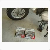 モンキー ブレーキシュー交換 フロント&リアの画像