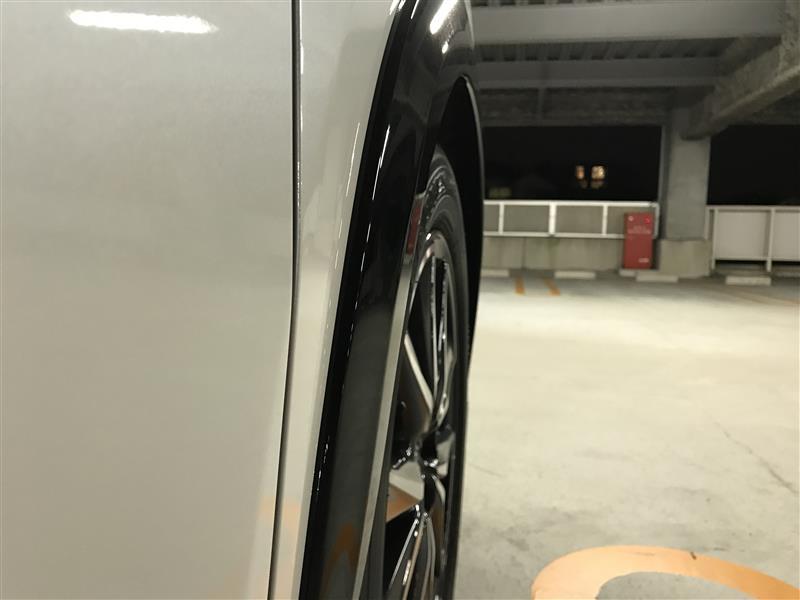オーバーフェンダー車高イメージ