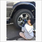 タイヤ交換、錆び処理