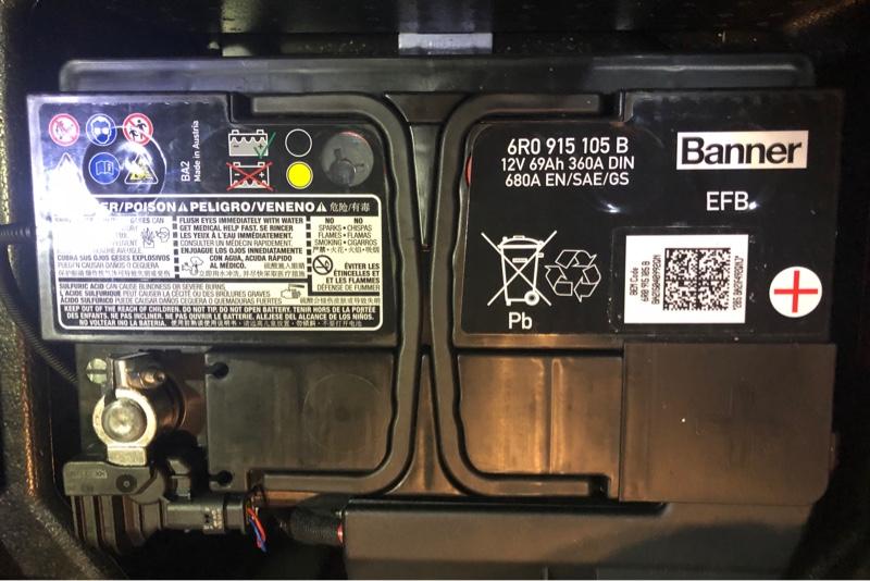 【メモ】バッテリー交換 6C POLO GTI  ABA-6RDAJ   6R0915105B