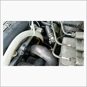 エア漏れ修理とブースト計取り付けの画像