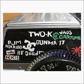 cc01パジェロにtwo-kとpjmステッカー作りましたの画像