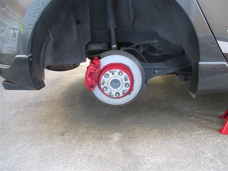 ブレーキ鳴き対策とブレーキ廻り塗装③
