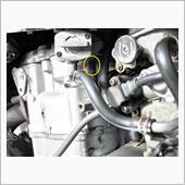 燃料コックの負圧ホースの修理