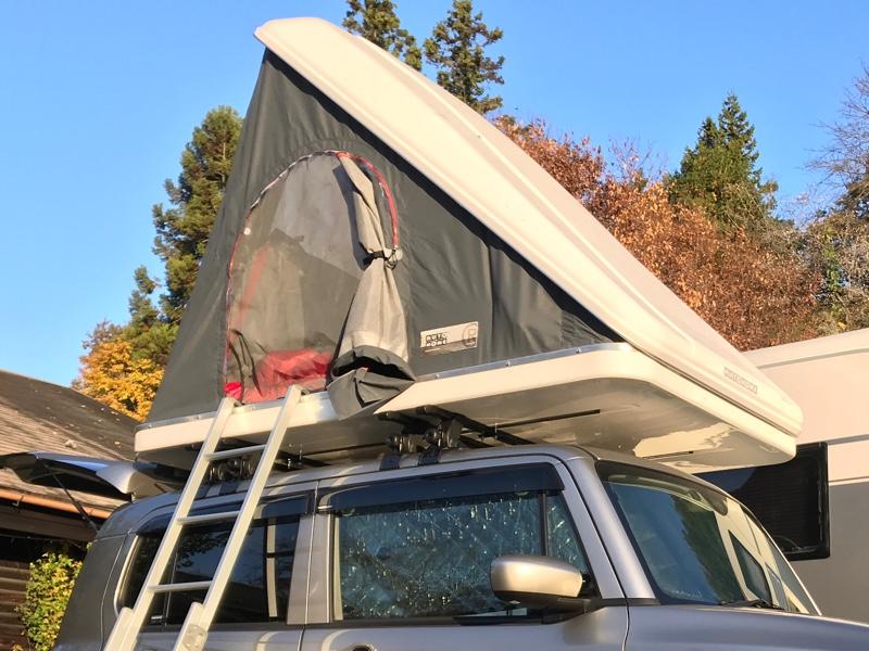 ハスラーにルーフテントを載せました!