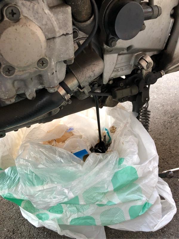 サンダーエース  オイル交換、チェーン洗浄
