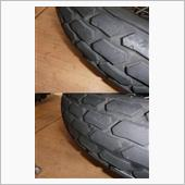 FTR223 ブロックタイヤに変更