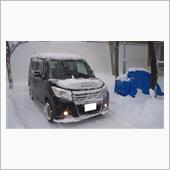 【検証】ラジエーターグリルに取り付けたメッシュ→吹雪で詰まらない?の画像