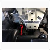 エンジンのアース近くからの配線にも接続しましたの画像