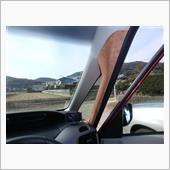 ピラーカバー&ドアスイッチ スエードシート貼付の画像
