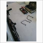 バッグサポート加工のバックレスト、サドルバック取付