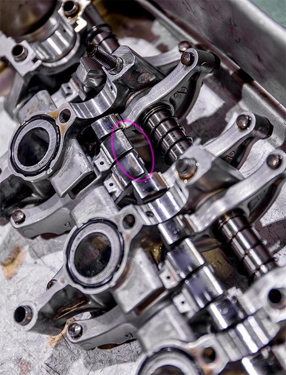 Honda Beat ホンダ・ビート PP1 E07A ロッカーアーム スリッパー部
