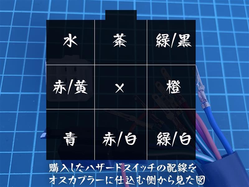 【ウインカースイッチ】ハザード&パッシング付き【汎用】