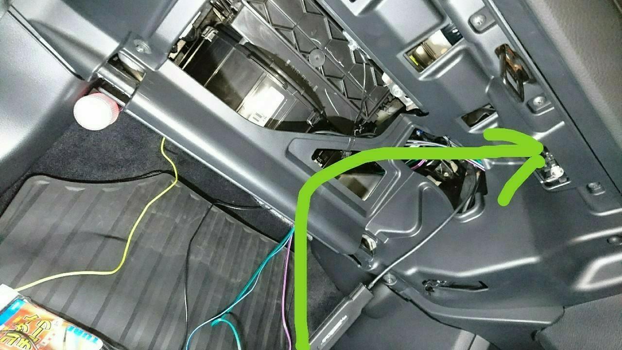 純正ナビ(VXM-184VFi)にサブウーファー取り付け