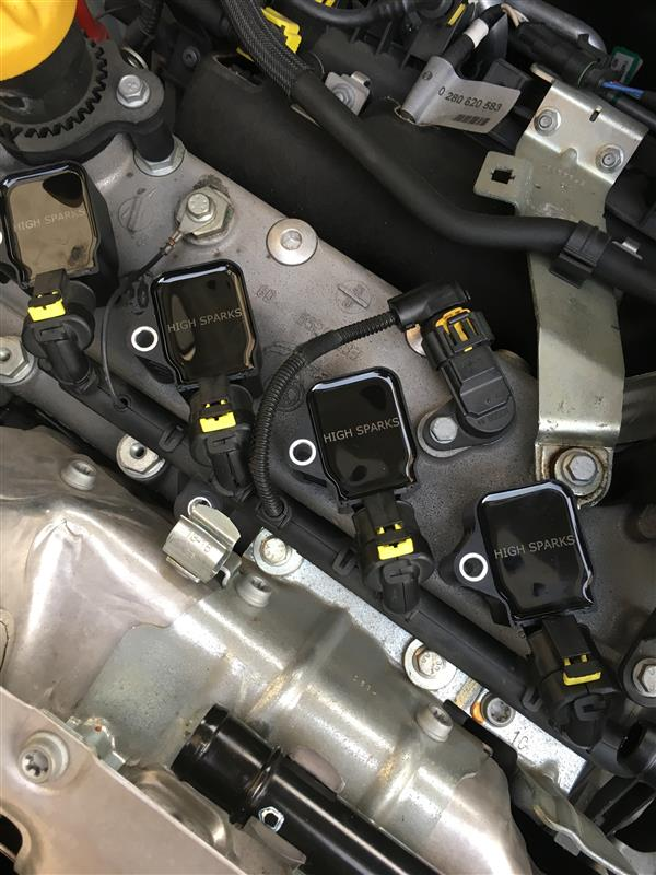 High Spark Ignition coil取り付け