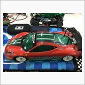 久々、ボディをフェラーリ458で走行の画像