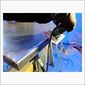 サービスボディー製作43 リアドアパネル溶接仕上げ・電磁ロックブラケットの画像