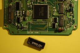 de-soldering the original ROM from stock ECU