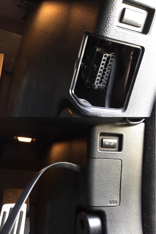 BMW E92 レーダー探知機 ACC電源割り込みOBDⅡ接続ケーブル作成と車両接続