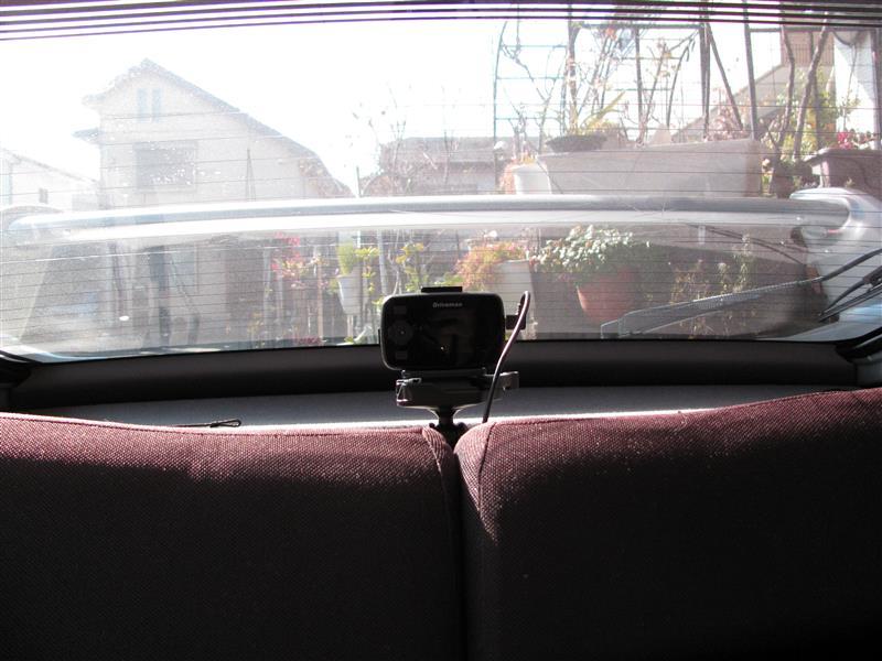 後方ドライブレコーダーの取り付け