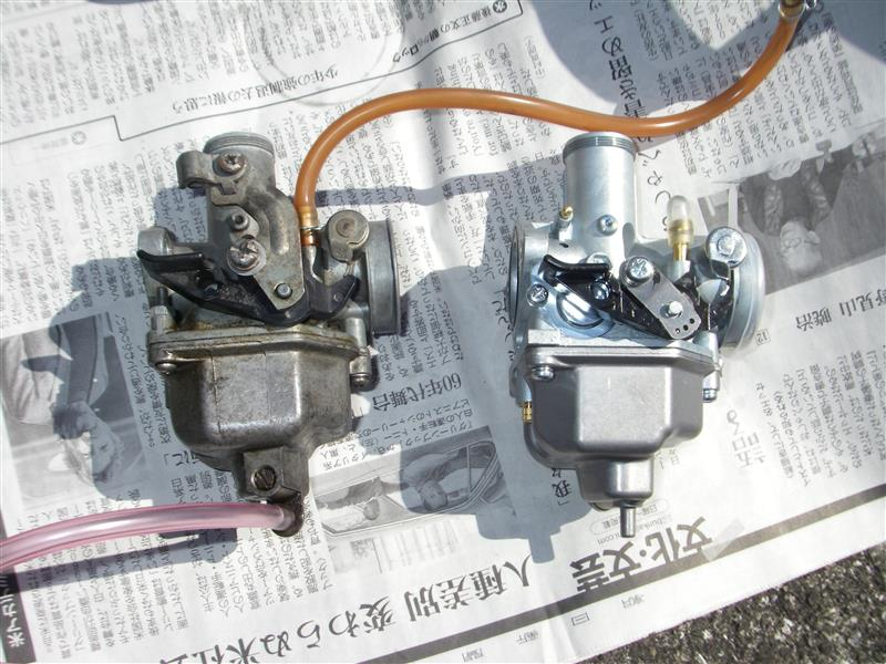 KEIHIN ミニモト KEIHIN PD22型(PTG)キャブレター ~取付