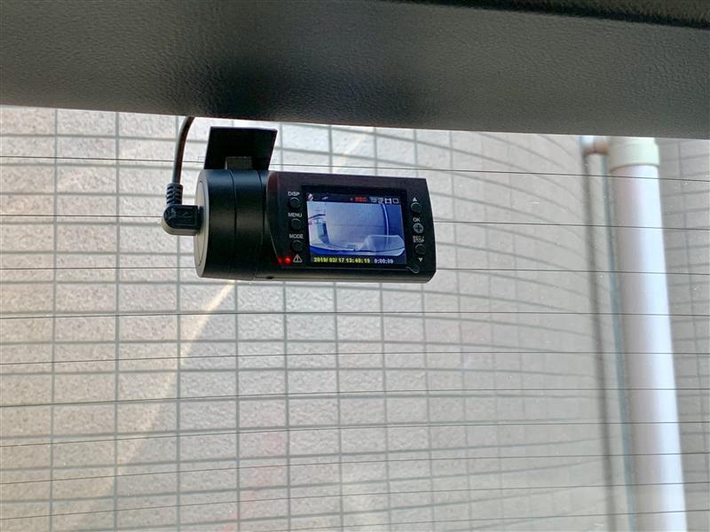 リア用ドライブレコーダー取付