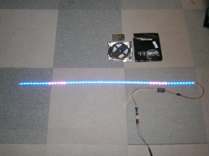 LEDテールストリップライトの配線準備?
