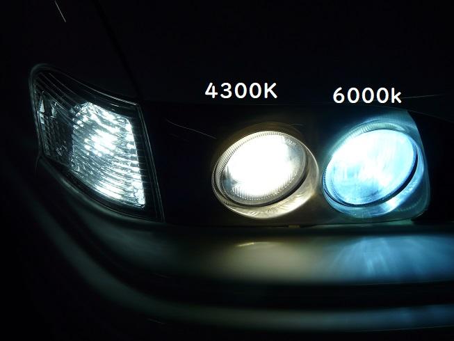 ロービーム交換8000k→4300K