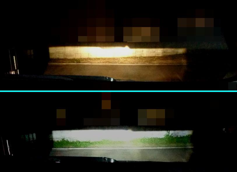 ラクティス ヘッドライトのLED化(HIR2)