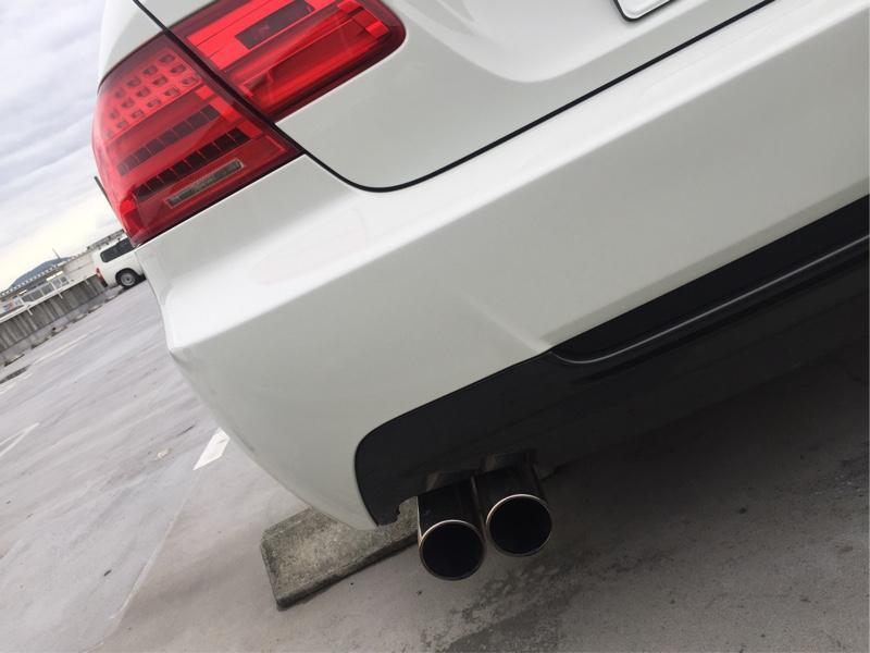 BMW E92[LCI]2本出しマフラー Φ76