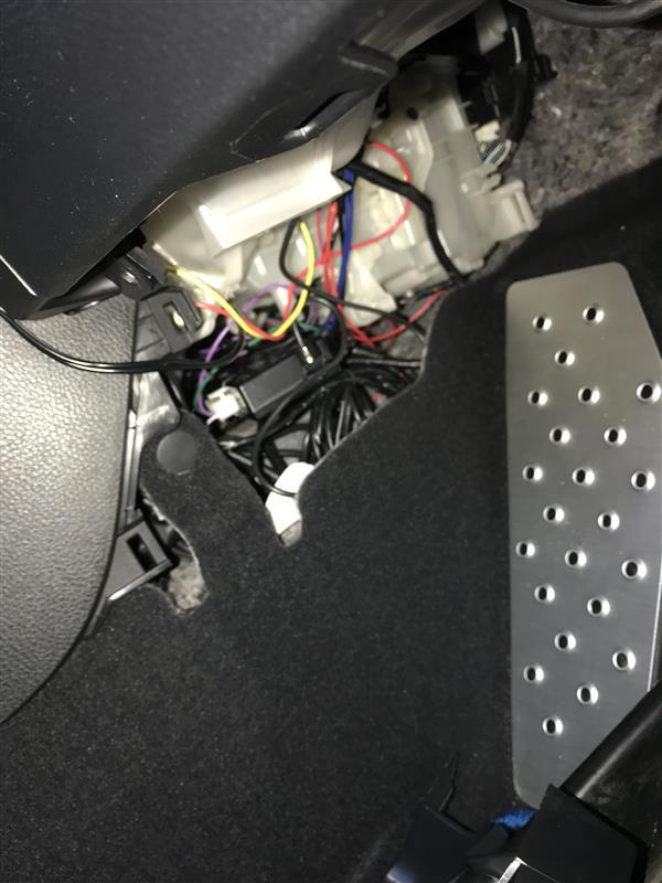 COMTECエンジンスターター 電源ハーネスの接続