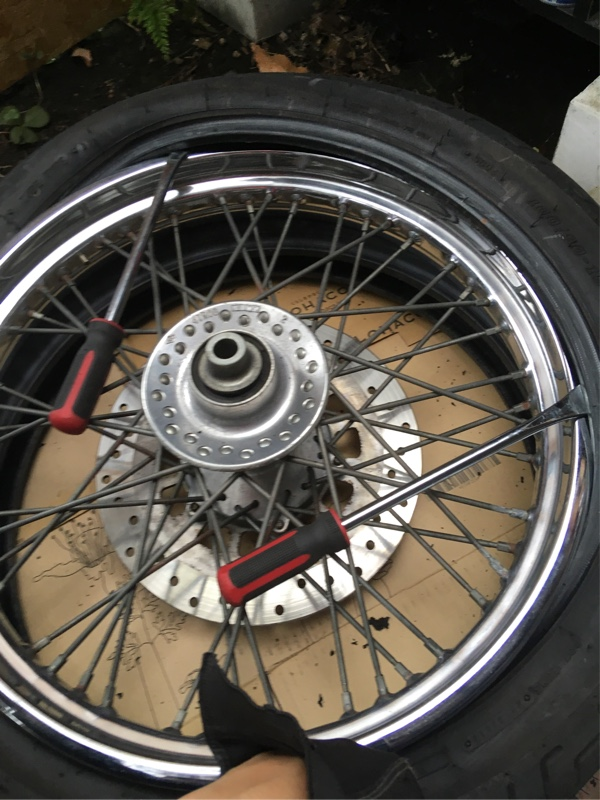 ドラッグスター400  タイヤ交換