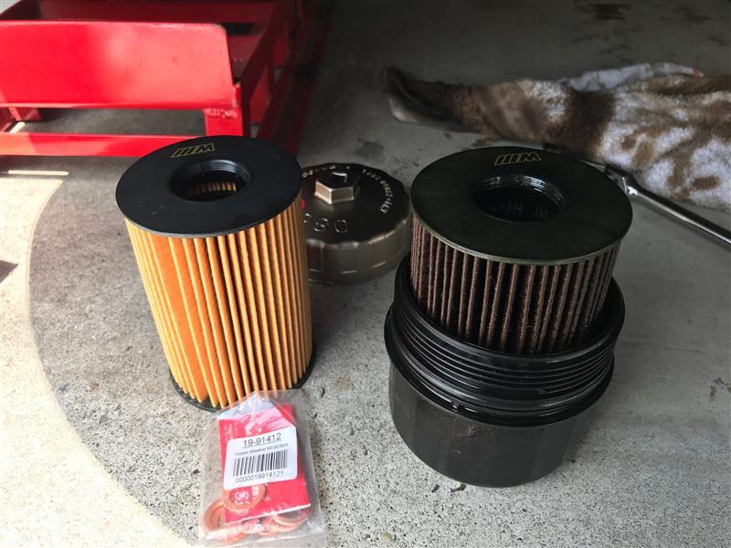 F10M5 DIYエンジンオイル&フィルタ交換、警告リセット