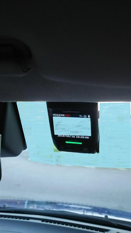ドライブレコーダー取り付け(°▽°)その2