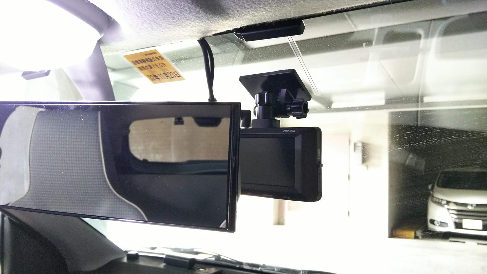 ドライブレコーダー COMTEC ZDR 026 取付