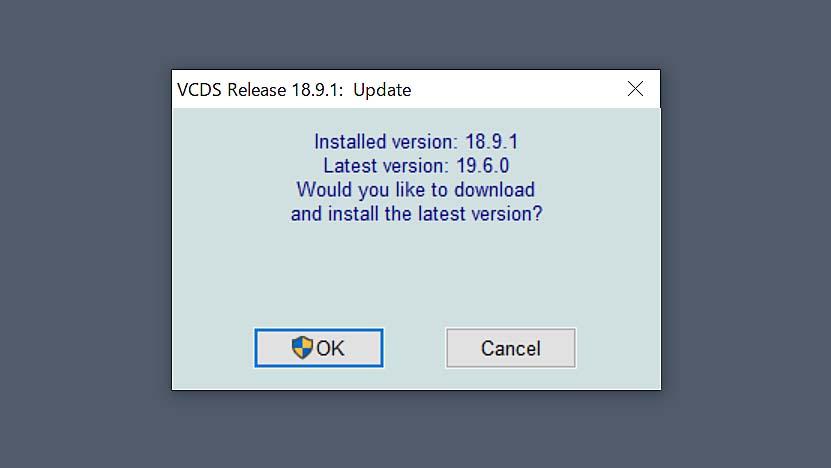 VCDS 19.6.0 Update & ファームウェアUpdate
