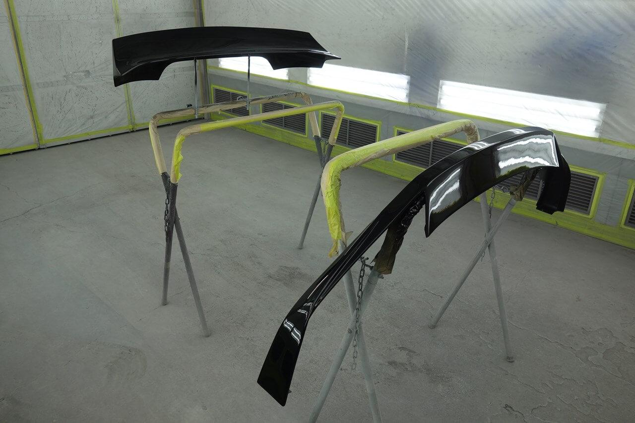 トヨタ 86 社外FRP製エアロパーツ塗装取付。青梅市。