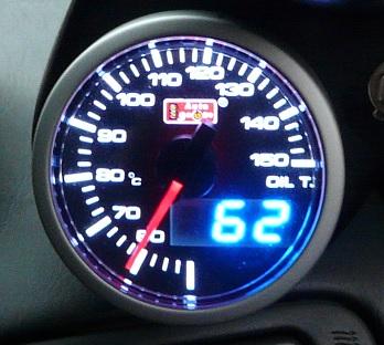 DUAL表示油温/油圧計取付け完了