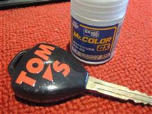 去年秋に続きRactisのクリア塗装でリモコンキーを美化😊v